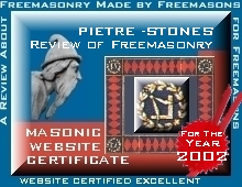 Pietre-Stones Review of Freemasonry Award